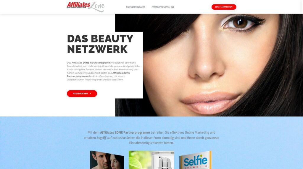 Affiliates Zone das Partnerprogramm für Beauty Produkte