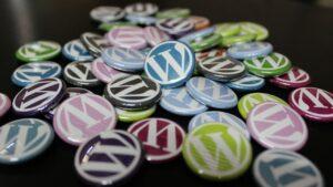 wordpress, badges, buttons