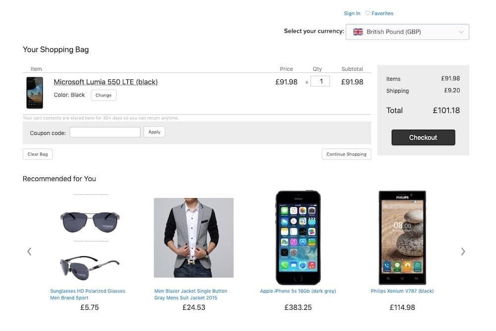 ECWID eCommerce Shop für Ihre Webseite 1