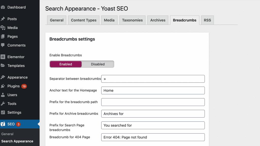 Elementor SEO: Breadcrumbs mit der Yoast SEO Integration von Elementor erstellen